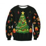 Women's Christmas Tree Printed Sweater