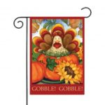 Thanksgiving Turkey Pumpkin Garden Flag 30 x 45 cm