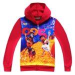 Disney Pixar Movie CoCo Pattern Zip Up Hoodie for Kids