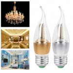 5W E27 LED Candle Bulb Candelabra Bulb with Tail 60 LED Beads