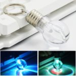 Mini Light Bulb Keychain 7 Color LED Flashlight Keychain