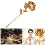 Foil Artificial Rose Flower for Valentine Day/Anniversary/Birthday – Random Color