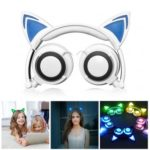 Linx LX-107 Cat Ears Design Folding Wired Stereo Headset Headphones with LED Light
