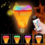 Smart E27 18W Bluetooth LED Music Bulb with Flickering Flame