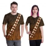 Unisex Chewbacca Prints Crewneck Short Sleeves Polyester T-shirt