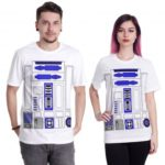 Unisex Star Wars Prints Crewneck Short Sleeves Polyester T-shirt