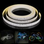 1cm x 8m Waterproof Reflective Sticker Tape for Bike Motorcycle – Random Color