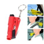 3 in 1 Mini Car Window Emergency Hammer Whistle Knife – Random Color