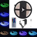 5m 300 LEDs RGB Light LED Strip with 44 Key Remote and 12V 3A Power Supply