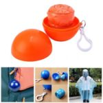 Ball Design Disposable Emergency Raincoat with Hook – Random Color