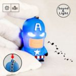 Captain America LED Glowing Keychain with Sound