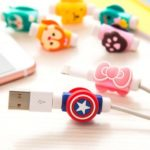 Cartoon USB Charging Cable Protector Cord Saver Cover for iPhone/Android – 2pcs/Pack