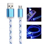 Glowing LED Micro USB to USB Charging Cable – Random Color
