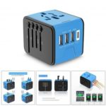 OTravel International Travel Adapter 3 USB+Type-C Wall Charger for EU/UK/AU/US & Asia