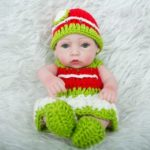 Realistic Newborn Baby Doll Toy with Clothes Hat and Shoes