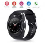 V8 Bluetooth Smart Watch 1.22-inch IPS Screen Fitness Pedometer Support SIM / TF Card