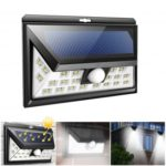 Wireless 24 LEDs Motion Sensor Solar Wall Lights for Front Door Back Yard Driveway Garage