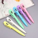 Creative 0.7mm Blue Ballpoint Pen with Electronic Watch Random Color