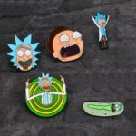 Rick and Morty Cartoon Pin Brooches Badge Random Delivery