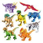 8Pcs Jurassic Park Dinosaur Figure Toy Building Block Set