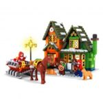 Ausini 25607 860pcs Christmas Post DIY Building Block Brick Assemble Toy
