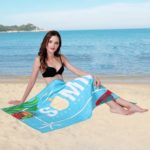 Letter Print Beach Towel Spa Pool Bath Big Towels 80 x 160cm