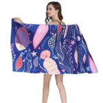 Lovely Fish Print Beach Towel Spa Pool Bath Big Towels 80 x 160cm