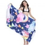 Lovely Unicorn Print Beach Towel Spa Pool Bath Big Towels 80 x 160cm