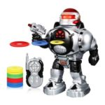 Remote Control Robot RoboShooter Discs Dances Talks Toy for Kids