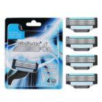 4pcs/Pack Four-Layer Manual Shaving Razor Blade Refills for Men