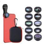 APEXEL APL-DG10 10 in 1 External Phone Camera Lens Set