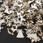 100Pcs/Pack Assorted Christmas Series Wooden DIY Crafts Ornaments