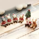 10PCs Resin Christmas Miniatures Ornaments Set