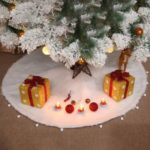122cm Vintage Christmas Tree Plush Skirt Home Decoration Mat