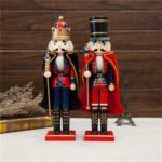 1PC 38cm Nutcracker Ornament with Cloak for Christmas / Holiday Decors