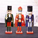 1PC 38cm King / Soldier / Guard Wooden Christmas Nutcracker with Cloak