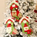 1PC 36cm Christmas Decoration Hanging Stocking Gift Bag