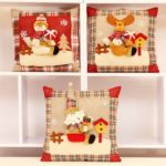 1PC Christmas Decorative Cushion Santa / Snowman / Elk Soft Pillow – 35 x 35 cm