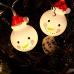 2.2m 20-LED Snowman Warm White String Lights for Christmas Decoration