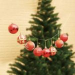 24PCs 6cm Christmas Balls Baubles Ornaments Xmas Tree Hanging Decoration – Red