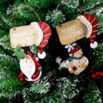 2PCs Santa Claus/Snowman Sign Christmas Tree Ornaments