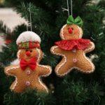 2Pcs 16cm Gingerbread Cookie Boy/Girl Christmas Tree Ornaments