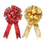 2PCs 45 x 25cm Double-layer Christmas Bowknots Bouquet Tree Decor