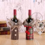 2pcs Fluffy Bowknot Wine Bottle Bag Cover – 17 x 24cm