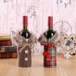 2pcs Fluffy Bowknot Wine Bottle Bag Cover – 17 x 24cm