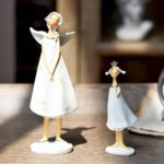 2PCs Resin Angel Mum & Daughter Ornament Set