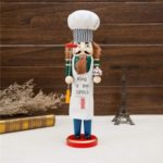 38cm Wooden Chef Nutcracker Figurine Christmas Ornament