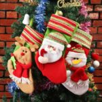 3PCs 35cm Santa Claus / Snowman / Elk Christmas Stockings
