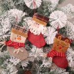3PCs Christmas Socks Candy Bags Christmas Decoration