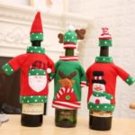3pcs Christmas Wine Bottle Cover Bag with Hat – 12 x 18cm
